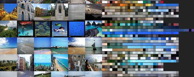 Colors of Brazilian tourist destinations
