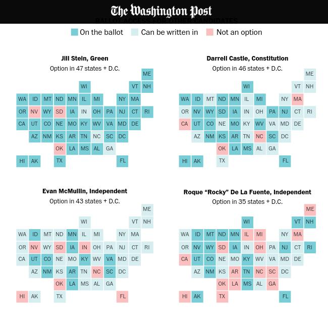 cartogramas de eleição 2016 dos EUA